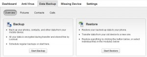 To restore your phone, click on start restore